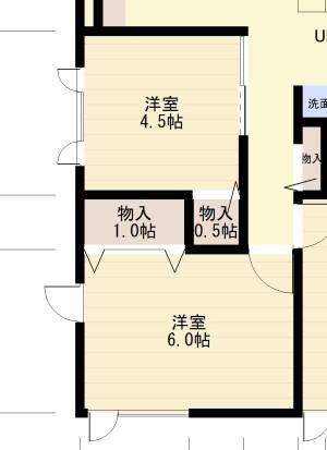 1F洋室1、2